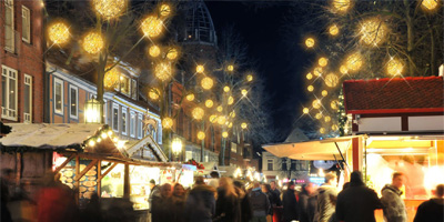 Walk of Lights am Pferdemarkt in Stade